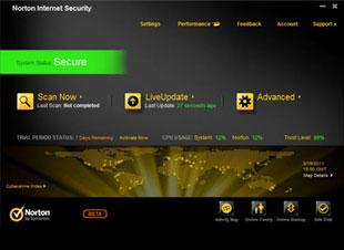 Norton Internet Security 2012 - Beta